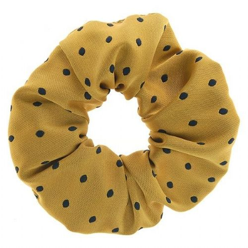 ShowQuest Medium Spot Hair Scrunchie in Sunshine/Navy